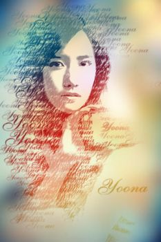 yoona typography by rhuday