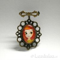 Vintage Girl Brooch by 1anina