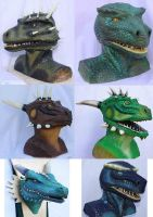 Masks Skulptures and Larp Projekts by Arooki