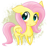 Chibi Fluttershy by StaticWave12