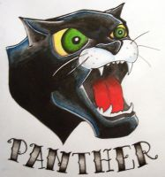 Panther Head by accomplicefarrell