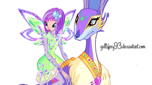 The Winx Club Tecna Tynix and Flitter png by Gallifrey93