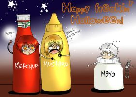 Happy Condiment-y Halloween by Krimpin-n-Bneji
