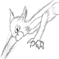 Fierce Cat - Accidental Sketch by EbenToons