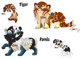 (closed)Toy tiger and panda auction by mydlas