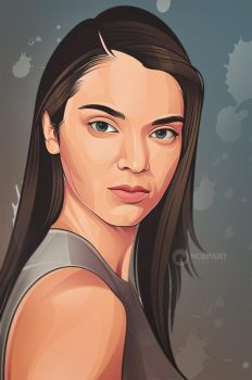 Kendall jenner on vector by Ncepart28