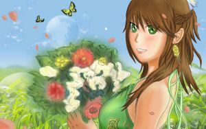 Girl With Flowers by spectra6234