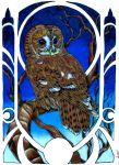 Art Nouveau-ish Owl by INK-SL1NG3R