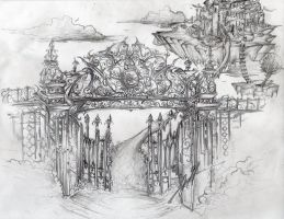 Gateway-Finished Drawing by josiahherman