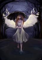 Fallen angel by Kalinel