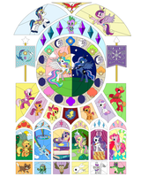 My Little Pony Stained Glass Layout by Thebubbleqat