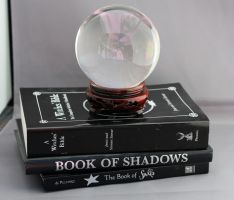 Crystal ball and Spell books by Sassy-Stock