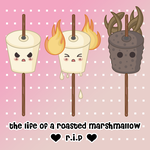 Life of a roasted marshmallow by pointy-nosed-aussie
