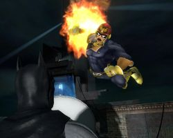 Captain Falcon vs Batman by Janus3003