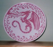 Dragon Plate by RCWikkydArtist
