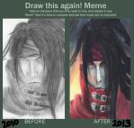 Vincent Valentine- Before and After by xGemxofxGeminix