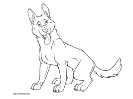 GSD Line Art by Greykitty