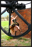 Blonde steampunk girl The wheels of time by the-little-skylark