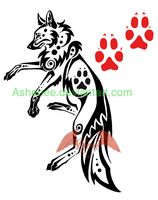 Tribal tattoo wolf by Ashenee
