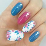 Navy and Magenta Florals by miss-manami