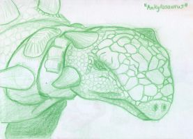 Ankylosaur sketch -1 by BAC-of-all-trades