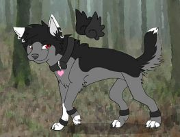 My Wolf Char Juno by Shara-Moonglow