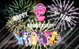 FiM: One Year Anniversary WP by M24Designs