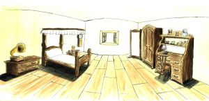 Background - Room, morning by Hermy46