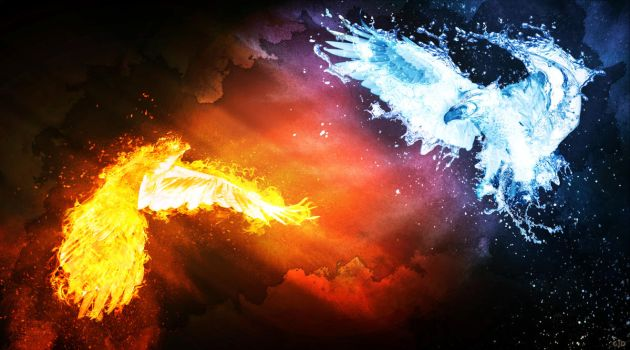 Eagle Fire vs Water (final) by Groltard