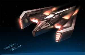 Wraith Star Fighter (Weekend Challenge) by jameslink