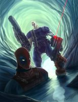 Cable_Deadpool by tedkeys