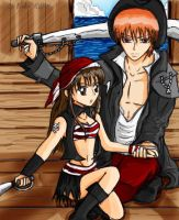 Kyo and Tohru ARRG Pirates by LiliNeko