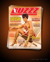 BUZZZ LADY SAW MAGAZINE COVER by innografiks