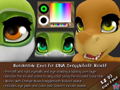 *R!* Recolorable Eyes for ONA Snaggletooth Kobold by Cari-Rez-Lobo