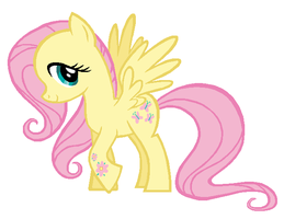 Easter Fluttershy concept by Durpy