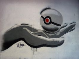 Pokeball Graffiti by ChoverNO