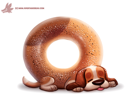 Daily Paint #1131. Bagele by Cryptid-Creations