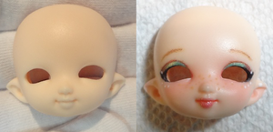 My first BJD Faceup by WaterGleam