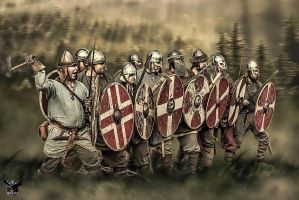 Viking defence by thecasperart