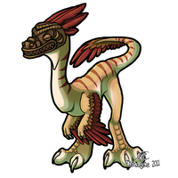 Tikiraptor by therougecat
