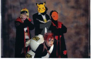 HITMAN PIKACHU + Naruto cast by EvolMaxiel