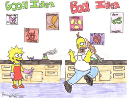 Homer's Experiment Gone Wrong by Vega-Three