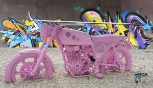Pink Bike Table by Dany-Art