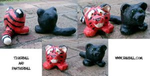 Tiger and pantherball casts by Rahball