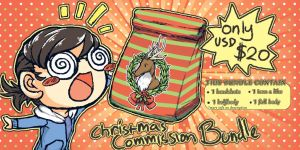[4 LAST DAYS~!] Commission Bundle by cupukid