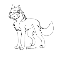 Wolf Lineart by machinewolf2