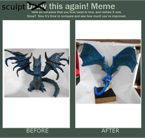 Blue dragon before and after! by KinokoKoneko