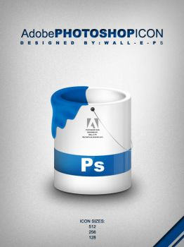 Photoshop bucket icon by wall-e-ps