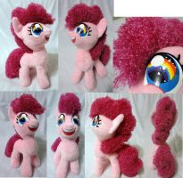 filly Pinkie Pie plushie, minky + curly fur, v 2 by Rens-twin