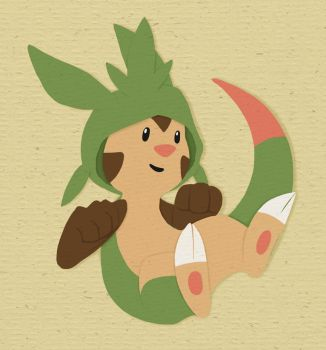 Paper Chespin by Renegar-Kitsune